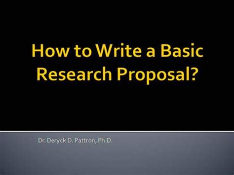 Research Proposal Guidelines - Current Students